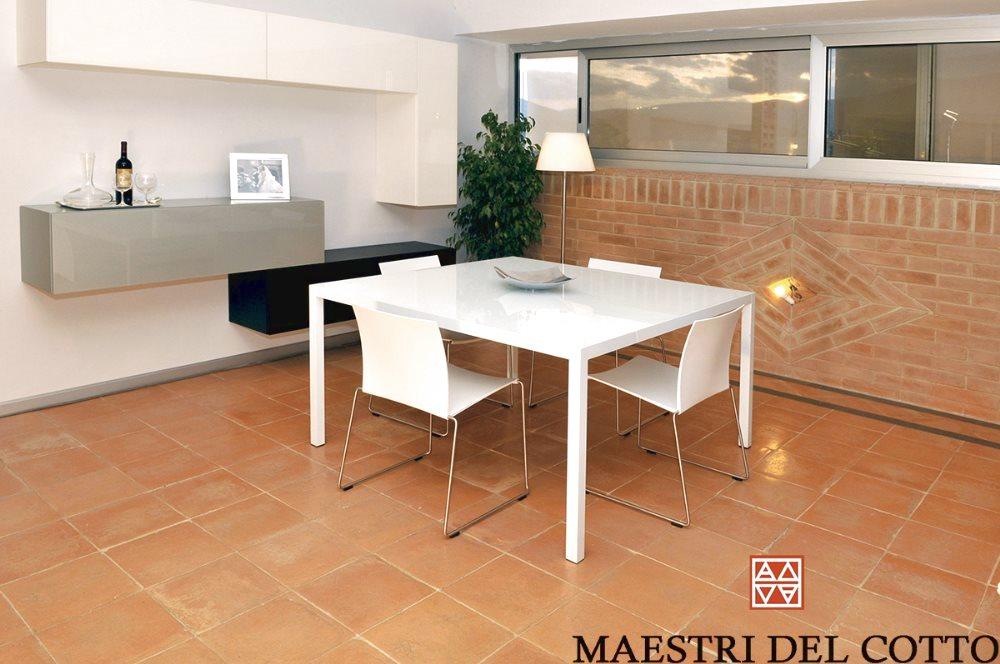 Arredamento con pavimento in cotto for Colori per casa moderna