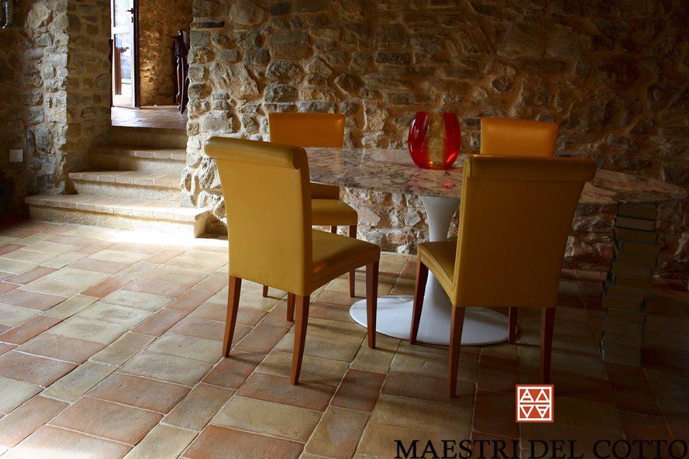 Pavimenti Rustici Interni : Pavimenti in cotto fatto a mano per casali e rustici