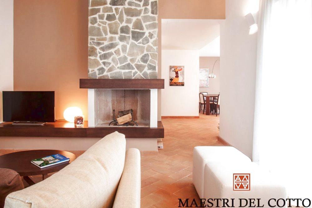 stile moderno e pavimenti in cotto