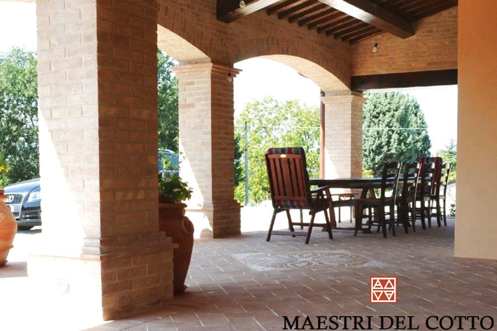 pavimento cotto portici e verande pavimento portici e