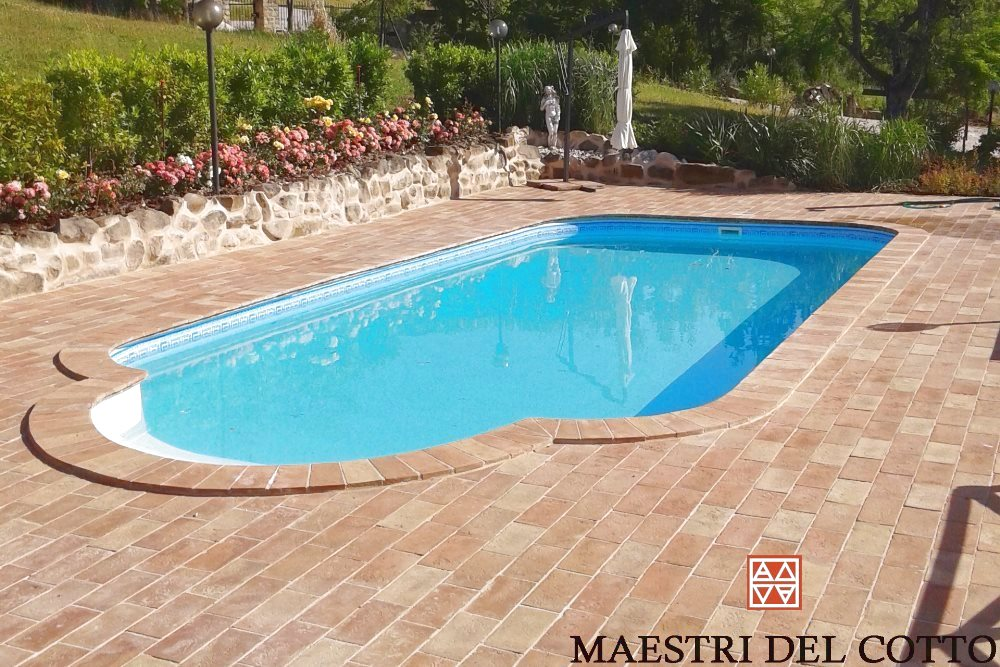 Pavimenti in cotto per piscine cotto ingelivo antiscivolo
