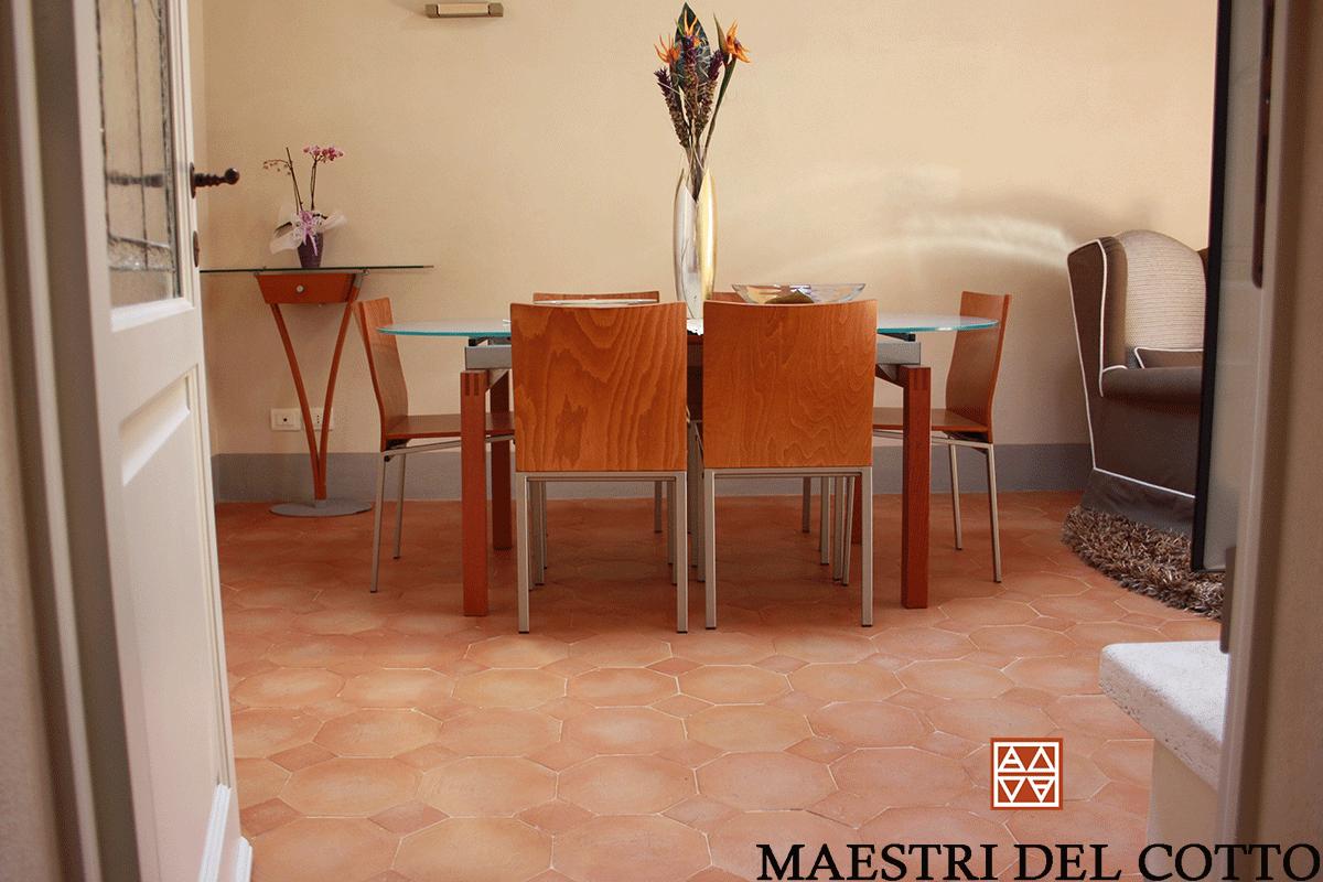 Idee Per Pavimenti Taverna villa a sinalunga pavimenti in cotto antico buttero rosato